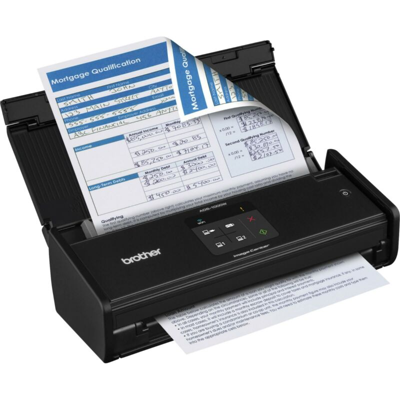 Brother Duplex Wireless Scanner Black ADS-1000W