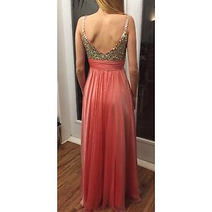 Coral prom dress size 0-2