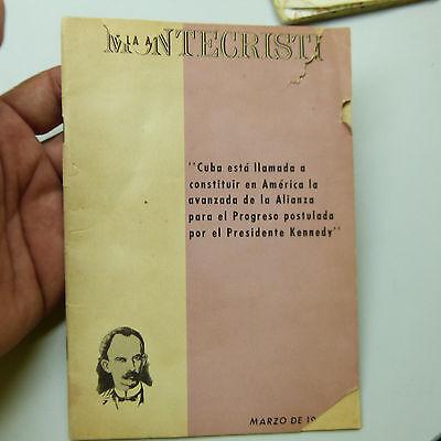 $5 Blow Out Sale: Vintage 1961 Cuban Political Pamphlet: Montecristi (b5)