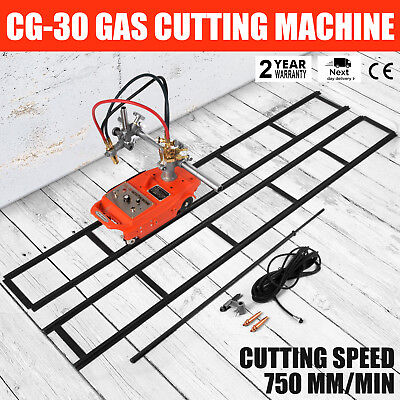 Torch Track Burner Cg1-30 Gas Cutting Machine W Rails Portable Metallurgy 110v