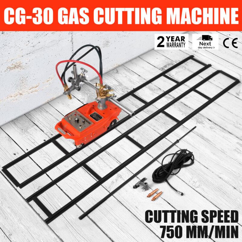 Torch Track Burner CG1-30 Gas Cutting Machine w/ Rails Portable Metallurgy 110V