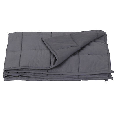 """Full Queen Size Reduce 60"""" x80"""" Weighted Blanket Stress Promote Deep Sleep 20lb"""