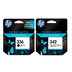 HP 336 Black & 342 Colour Ink Cartridge Set Original HP Photosmart 8250 3310 UK