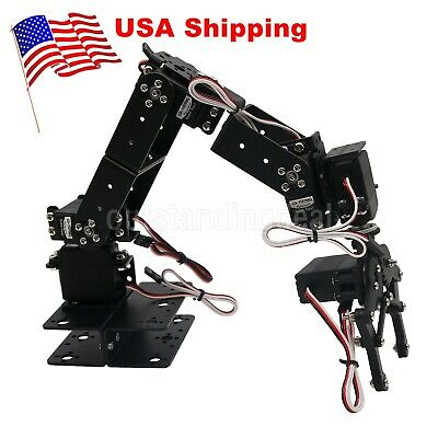6 Dof Arm Mechanical Robotic Arm Clamp Claw Mount Kit For Arduino Us