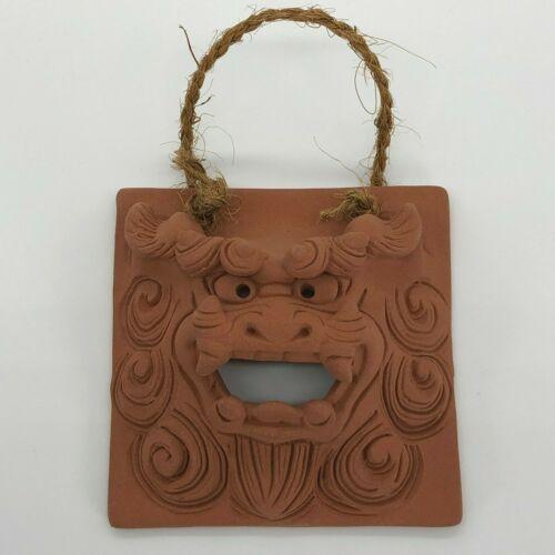 Shisa Unglazed Face Wall hangings S-size Okinawa Japan Traditional Guardian Lion