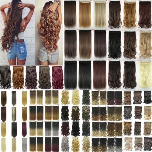 Remy Haarverlängerung Clip in Extensions Echthaar Set Echte Haare 7 Tressen Hair