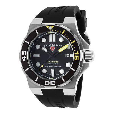 Swiss Legend SL-10062A-01-YA Abyssos Automatic Silicone Watch Black Dial