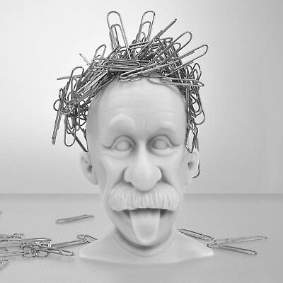 Büroklammerhalter Genie Kopf Paperclip Holder Genius
