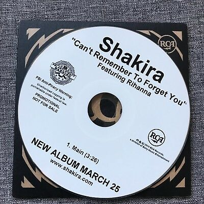 SHAKIRA Rihanna Can't Remember To Forget You CD Single Rare 1 Track Promo USA