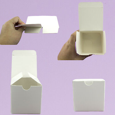10pc 50pc White Kraft Square Paper Boxes Candy Gift Box Wedding Party Favor (Kraft Square)