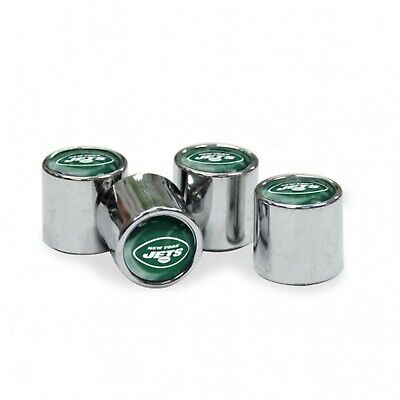 Chrome Plastic Football New York Jets Tire Valve Stem cap Covers 4 Pc set New York Jets Tire Cover