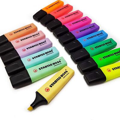 Stabilo Boss Highlighter Pens - Original Pastel Highlighters- Buy 3 Get 1 Free