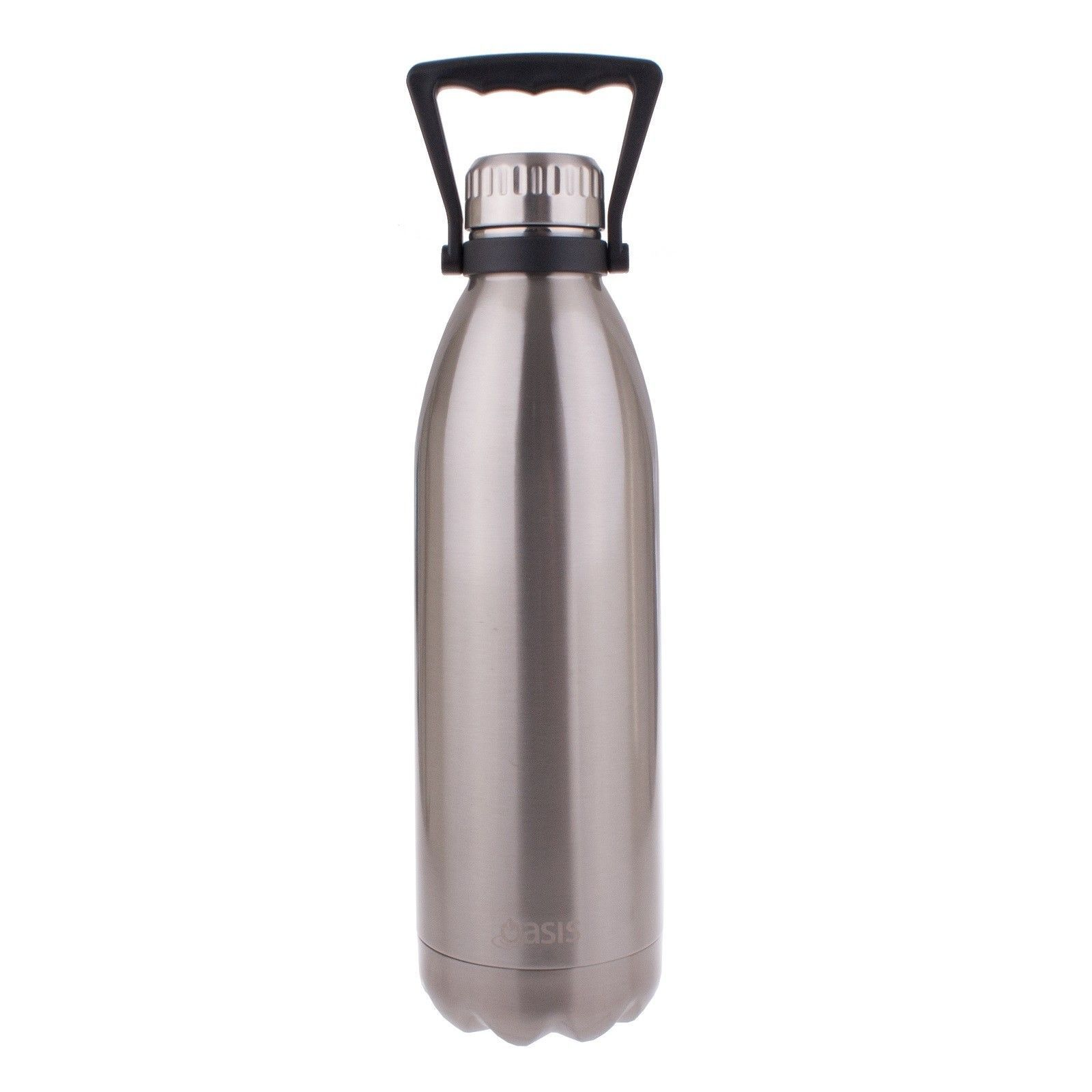 Oasis Double Walled Vacuum Insulated Stainless Steel Water Drink Bottle Black
