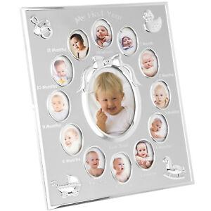 baby 1st year photo frame ebay