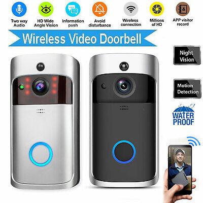 Smart Video Wireless WiFi Door Bell IR Visual Camera Record