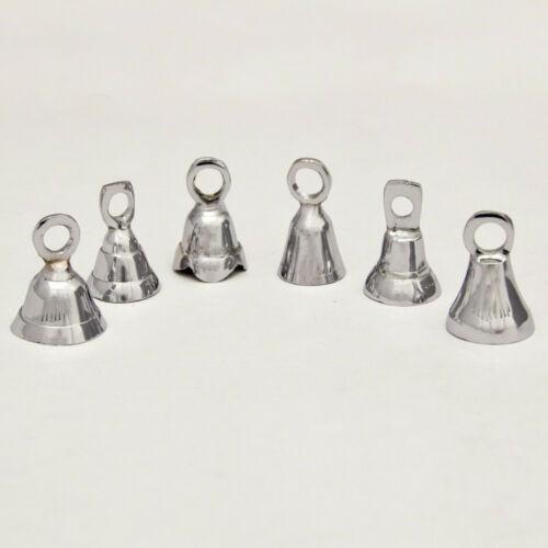 A Dozen 2 Inch High Silver Bells Wedding Motorcycle Brass Bells Chrome Plated