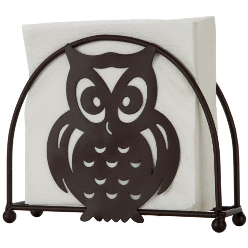 Home Basics Bronze Owl Design Napkin Holder Storage 6″ x 5.25″ x 2″ Home & Garden