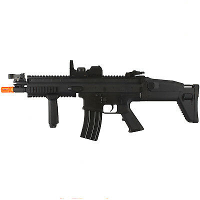 FULL AUTO FN SCAR-L MK16 ELECTRIC AEG AIRSOFT RIFLE GUN w/ RED DOT SCOPE 6mm BB
