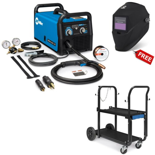 Miller Millermatic 211 MIG Welder with Running Gear and FREE Helmet (951603)