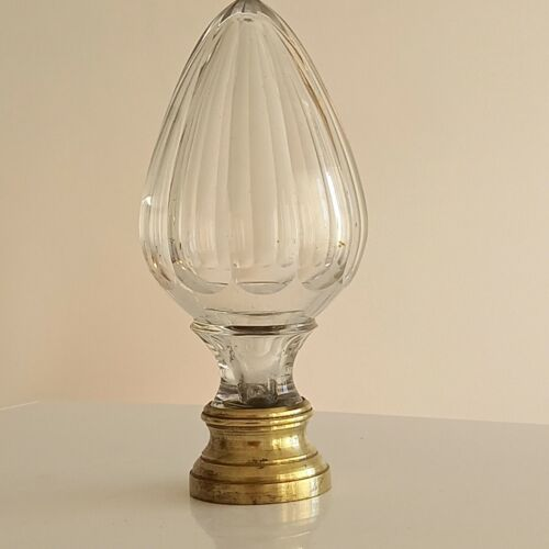 Baccarat 19th century Staircase / Newel Post Finial Boule d