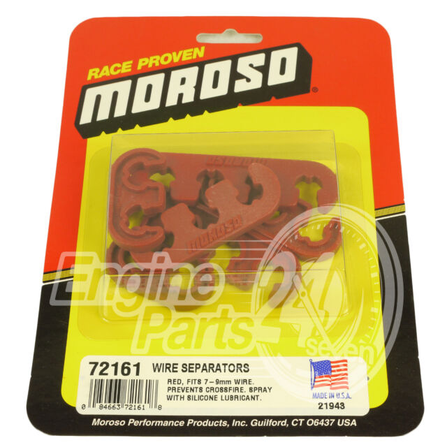 SPARK PLUG LEAD SEPARATORS UNIVERSAL RED KIT SUITS 7 8 OR 9 MM MOROSO 72161