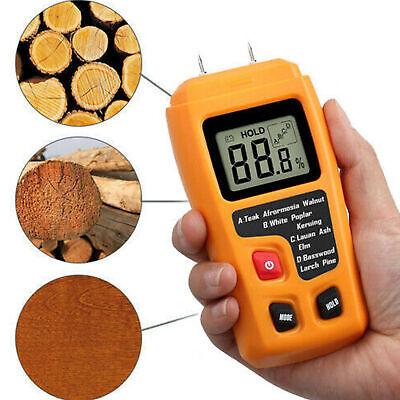 Digital Lcd Humidity Wood Moisture Meter Firewood Electrode Detector 0-99.9 Us