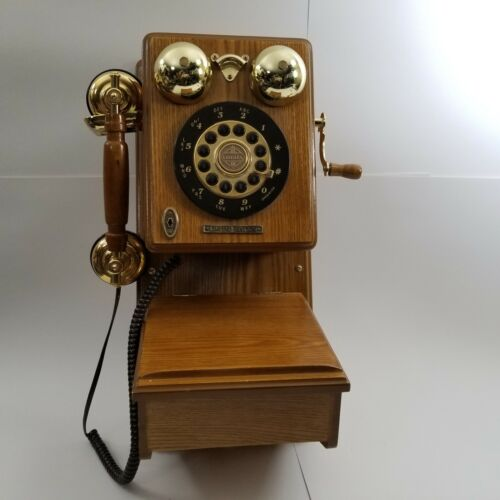 Thomas Crosley Museum Series Wood Antique LOOK Wall Phone Telephone