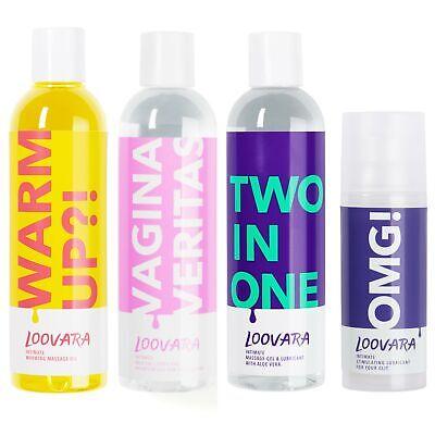 Mega-Paket wärmendes Massageöl Erotik Gleitgel Anal Gleitmittel Orgasmusgel