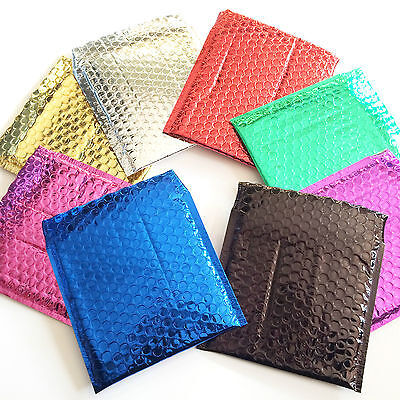 Bubble Lined Metallic Foil Padded Mailing Envelopes Bags Various Colours Bubble Lined Mailers Cushioned Mailing