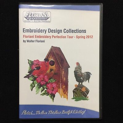 Floriani Embroidery Designs Multi-format CD Spring 2012 Perfection collection Designs Multi Format Cd