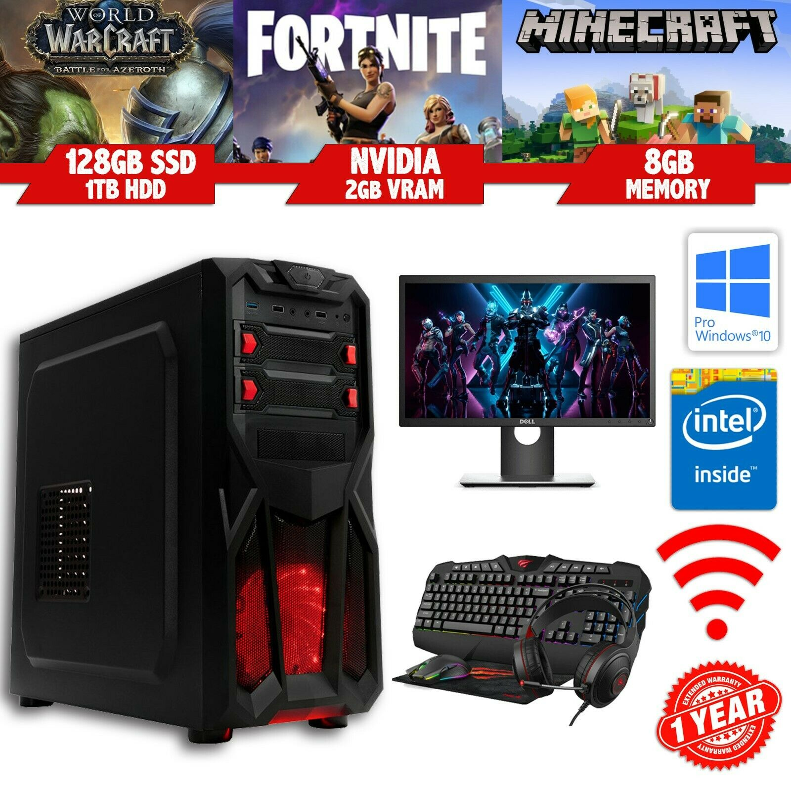 Cheap FORTNITE Gaming PC Bundle - Intel i7 - 8GB - SSD ...