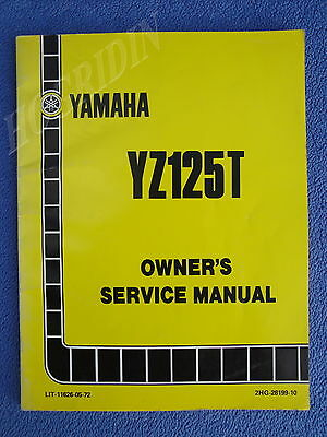(YAMAHA YZ125T DIRT BIKE MOTORCYCLE OWNERS SERVICE MANUAL LIT-11626-05-72)