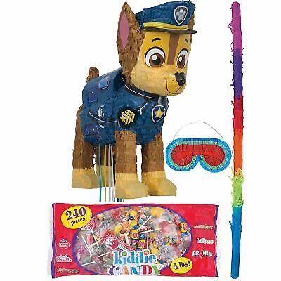 Paw Patrol Chase Birthday Pinata Bat Blindfold and Candy Kid