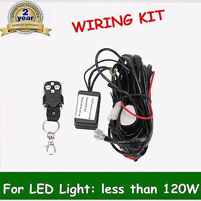 Remote Control Wiring Harness Strobe Switch Relay for LED light 72W 18W 36W 12V