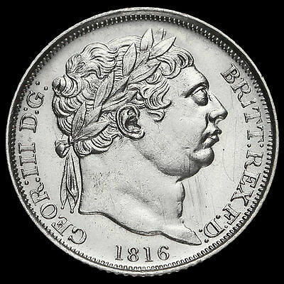 1816 George III Milled Silver Sixpence, AU