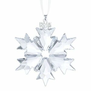 Swarovski 2018 annual Christmas Ornament 5301575 New in Original Box Snowflake