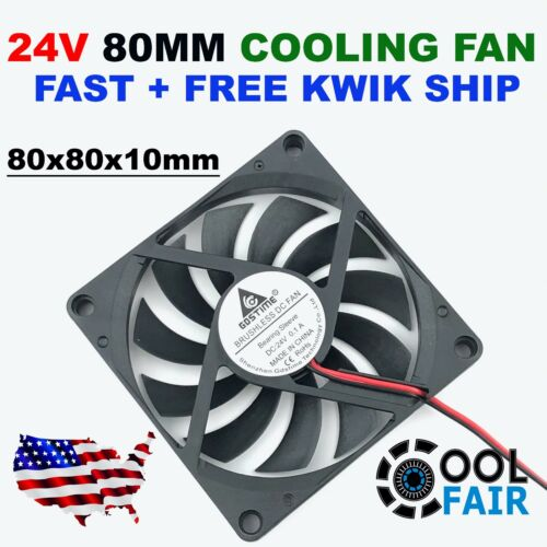 24v 80mm Cooling Case Fan DC 8010 80x80x10mm PC Computer Cooler CPU 2Pin