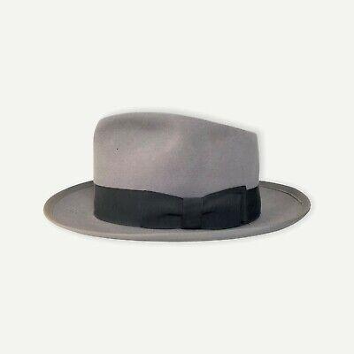 1950s Mens Hats | 50s Vintage Men's Hats Vtg 1950s LEE Warren Fedora 7 to 7 1/8 hat WHIPPET CLONE 50s Bound Edge Fur Felt $114.99 AT vintagedancer.com