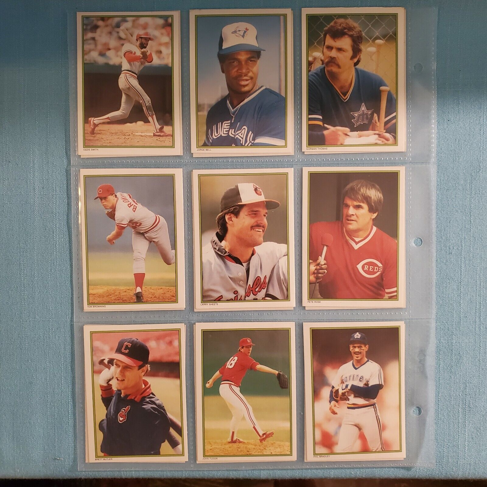 VINTAGE - 1986 TOPPS BASEBALL GLOSSY MAIL IN CARDS SET 60 CARDS LOOK  - $15.99
