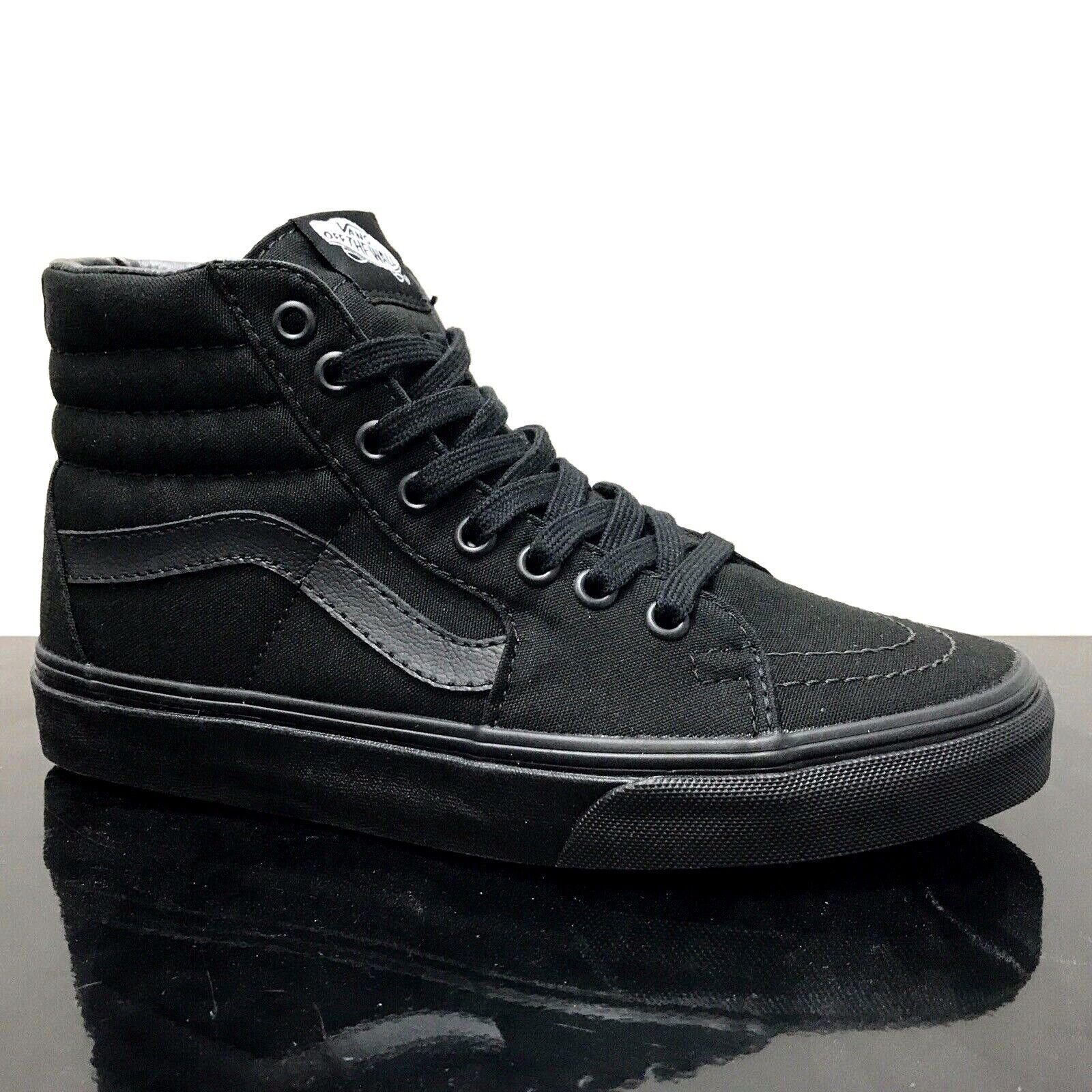 VANS SK8 HI BLACK BLACK BLACK CANVAS