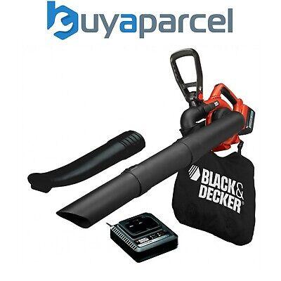 Black Decker GWC3600L 36v sin Cables Eléctrico Hoja Jardin Soplador Vacío +