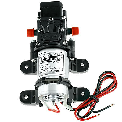 12v DC 100pPSI 4l/Min High Pressure Diaphragm Water Pump For RV Caravan Boat