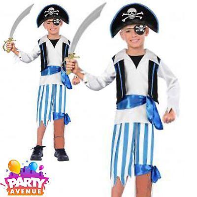 Peg Leg Pirate Caribbean Buccaneer Boys 6-8 yrs Travis Dress Up  Hat Sword - Pirate Peg Leg Kostüm