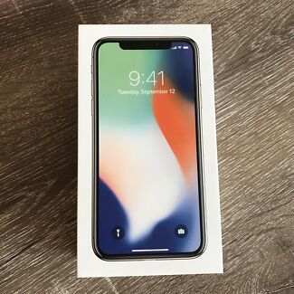 NEW Silver iPhone X 256GB UNLOCKED