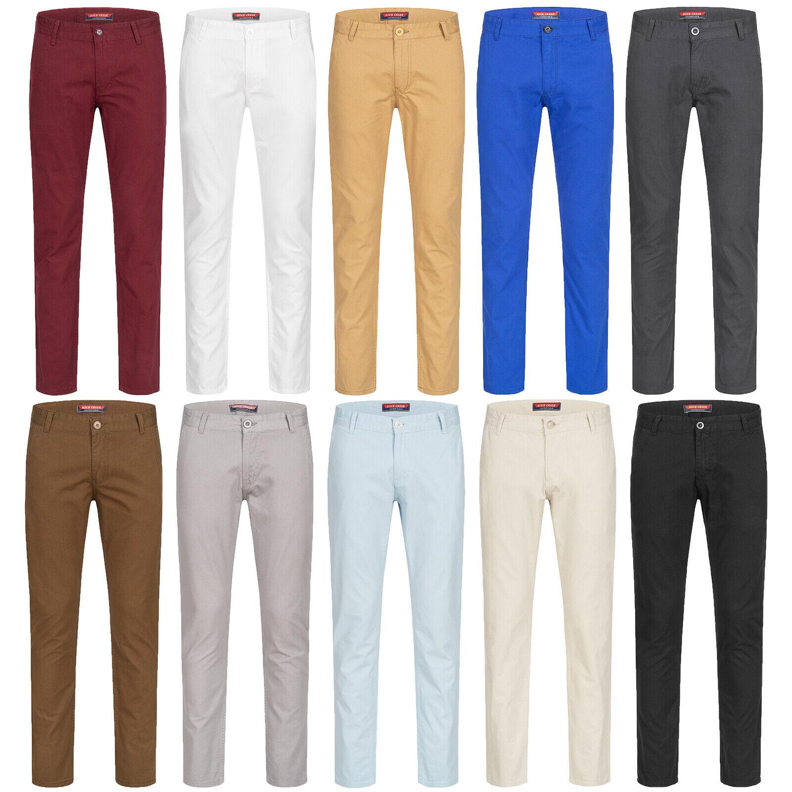 95b2bb0290f313 ... Stretch Hose Jogg Jeans Sweatpants Sweathose 7001. Rock Creek Herren  Chino Stoff Hose Regular Fit Designer Chinohose RC-2083