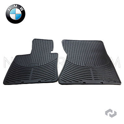 NEW BMW X5 X6 07 14 Front All Weather Rubber Black Floor Mat Set Genuine