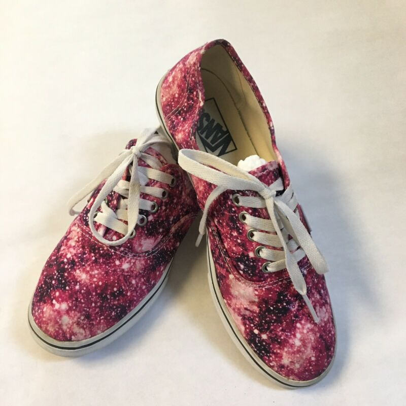 VANS Cosmic Galaxy Print Low-Top Skate Shoes Womens 8 Mens 6.5 Off The Wall EUC