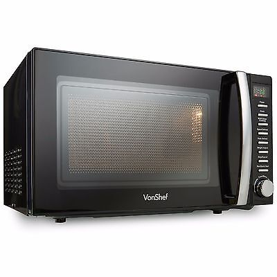 VonShef 20L Digital Microwave Oven 800W Auto Cook Defrost Quick Start Black