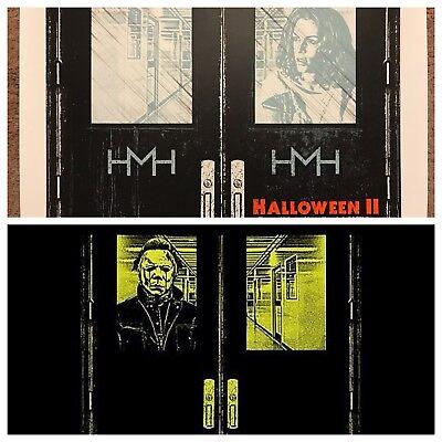John Carpenter Halloween 2 II Qfschris Print Poster Mondo Michael Myers Glows!!! - Halloween Ii Poster