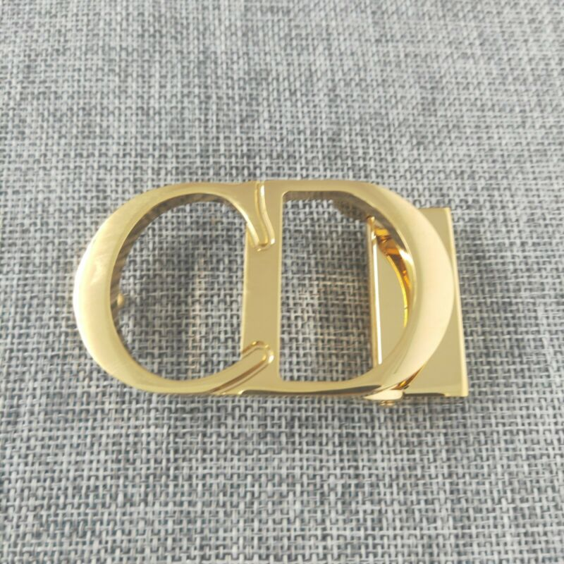 DIOR CD Logo Glossy GOLD Plated belt Buckle